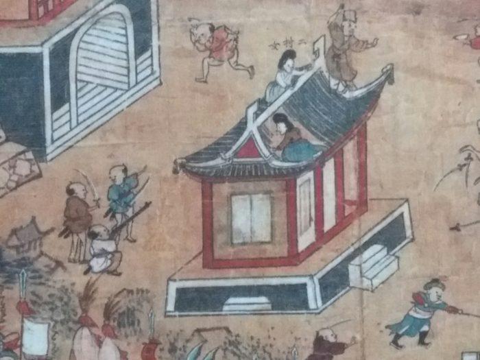 임진왜란 개전 초기 동래성 전투를 묘사한 그림