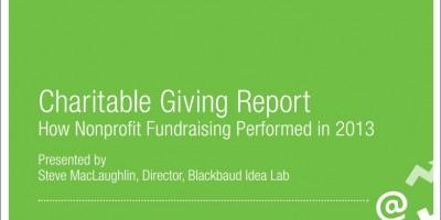 기부 리포트 - 2013 미국 비영리기관 기부실적