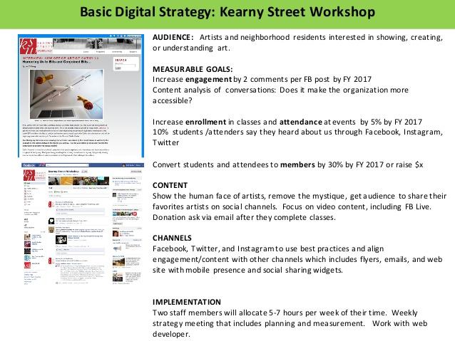디지털 전략 수립의 예시