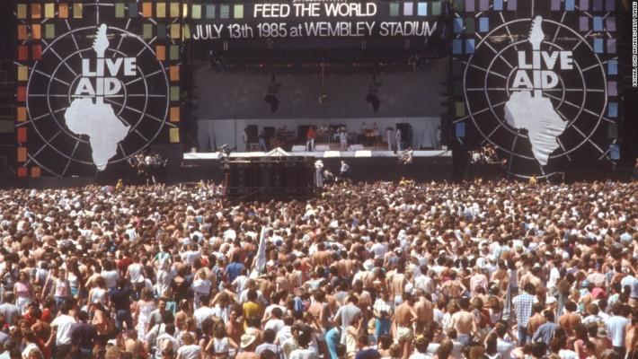 1985년 Live Aid 공연사진